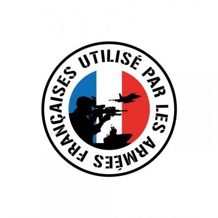 Label « utilisé par les armées françaises »
