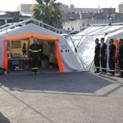 UTILIS tente deployed in lebanon