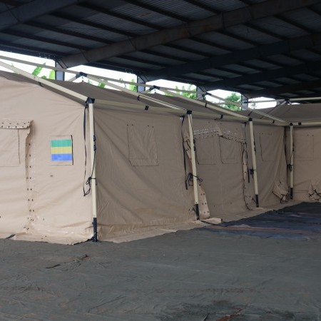 UTILIS delivers two advanced medical posts fully equipped to the health service of the Gabonese army