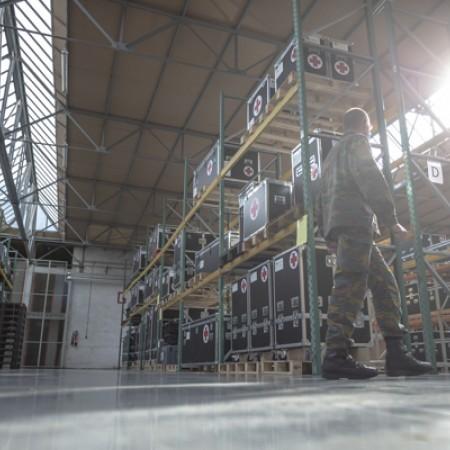 Fin de las entregas de equipos ROLE 2E en La Défense Belge y comienzo de la formación.