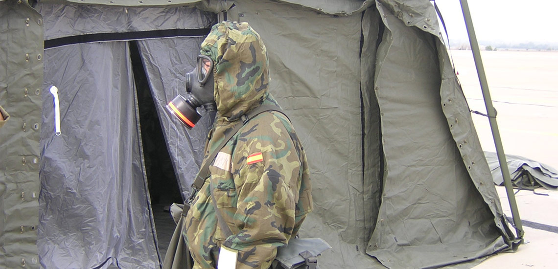 People can wear their CBRN clothing
