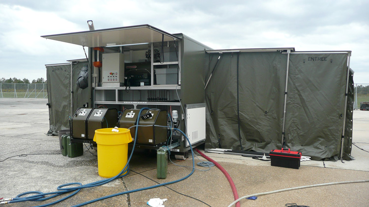 Decontamination containers